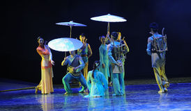 The market of the rain -The dance drama The legend of the Condor Heroes Royalty Free Stock Image
