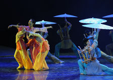 The market of the rain -The dance drama The legend of the Condor Heroes. In December 2, 2014, a large Chinese dance drama the legend of the Condor Heroes for the Royalty Free Stock Photography