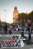 Market at the Ramblas in Barcelona, Spain Stock Image