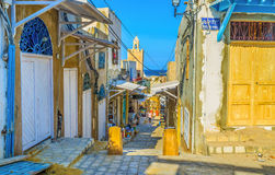 The market raws of Sousse Royalty Free Stock Photos