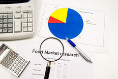 Market research and accounts Royalty Free Stock Photo