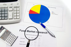 Market research and accounts Stock Image