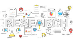Market research and analysis concept illustration Stock Photo