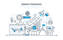 Market research. Analysis, research statistic, information exchange. Time management. Stock Image