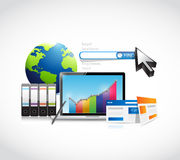 Market research business concept illustration Stock Images