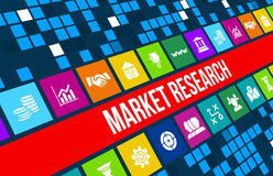 Market Research concept image with business icons and copyspace. Royalty Free Stock Photography