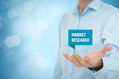 Market research. Concept. Marketing specialist offer service of marketing research company royalty free stock photography