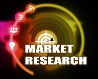Market Research concept plan graphic. 2018 Royalty Free Stock Images