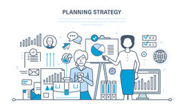 Market research, financial analysis, performance management, business, study of statistics. Planning strategy concept. Market research, financial analysis Royalty Free Stock Image