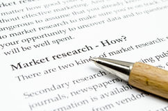 Market research Royalty Free Stock Photos