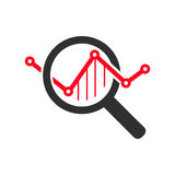 Market Research Icon. Flat Design.  Illustration Stock Image