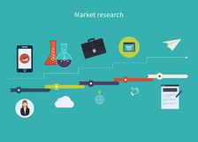 Market research icons Royalty Free Stock Photo