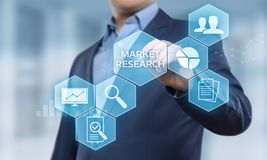 Market Research Marketing Strategy Business Technology Internet concept Royalty Free Stock Photos