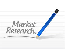 Market research message illustration design Royalty Free Stock Photos