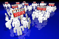 Market Research Study Survey Customers Demographics People Signs Stock Images