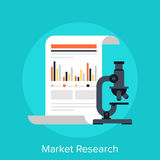 Market Research. Vector illustration of market research flat design concept Stock Image