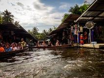 Market on the river . Architecture, tourism, Thailand stock photos