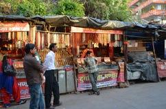 Market rows in Rishikesh Royalty Free Stock Image