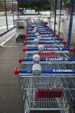 Market's trolleys in Lecrercq Market Stock Photo