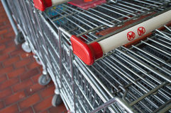 Market's trolleys Royalty Free Stock Images