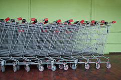 Market's trolleys Royalty Free Stock Photography