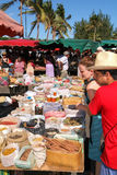 The market of Saint Paul on La Reunion island, France Royalty Free Stock Images