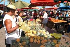 The market of Saint Paul on La Reunion island, France Stock Images