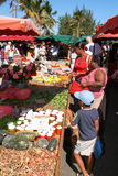 The market of Saint Paul on La Reunion island, France Stock Image