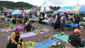 Market of San Juan Chamula in Mexico Stock Images