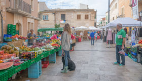 Market in Santanyi Royalty Free Stock Photo