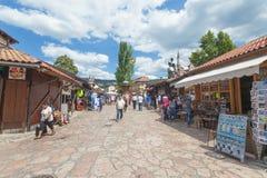 Market in Sarajevo royalty free stock photography