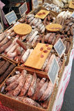 Market sausages Royalty Free Stock Photos
