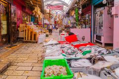 Market scene in Acre Akko Royalty Free Stock Photos