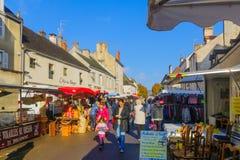 Market scene in Beaune Royalty Free Stock Photo