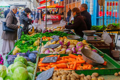 Market scene in Dijon Royalty Free Stock Images