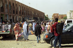 Market scene, Nouakchott, Mauritania Stock Photo
