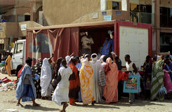 Market scene, Nouakchott, Mauritania Stock Photography
