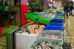 Market scene in the old city, Acre Royalty Free Stock Images