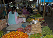 Market scene, Phuentsoling, Bhutan Royalty Free Stock Photos