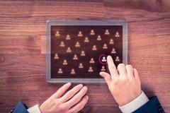 Market segmentation and recruit Royalty Free Stock Photos