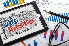 Market segmentation word cloud Stock Images