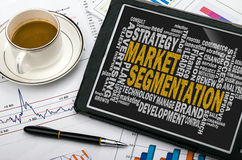Market segmentation word cloud Royalty Free Stock Photography