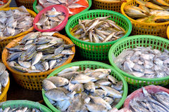 Market sell raw fish Royalty Free Stock Photo