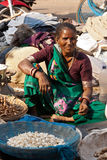 Market seller in Surat, India Stock Photography