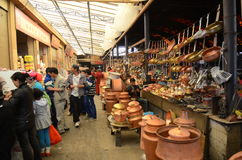 Market in Shangrila, Yunnan province,China Stock Photography