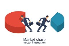 Market share business concept. Royalty Free Stock Photos