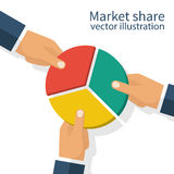 Market share business concept Stock Photos