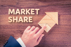 Market share increasing Stock Photos