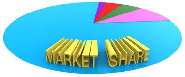 Market share marketing business sales goal Royalty Free Stock Photos