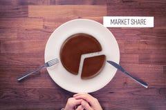Market share marketing concept Stock Photos